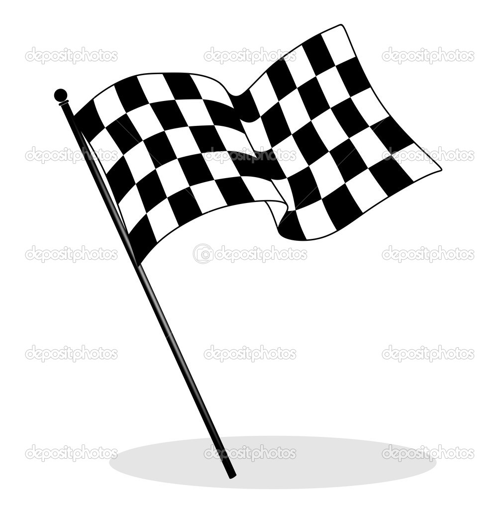 Checkered Flag Coloring Coloring Pages