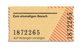Ticket — Stock Photo