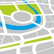 City map — Stock Photo