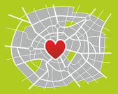 City map — Stock Photo