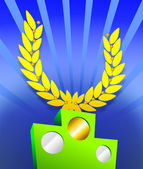Victory podium — Стоковое фото