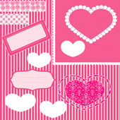 Set Rosa Scrapbook — Stock Photo