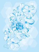 Blue flowers background — Stock Vector