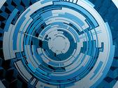 Background techno circle — Stock Vector