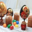 Постер, плакат: Easter eggs cake Jesus Christ Saint Nicholas Holy Mary