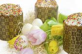 тюльпан торт пасхальное яйцо — Стоковое фото