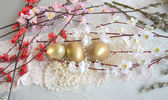 Easter egg fabric lace — Stockfoto