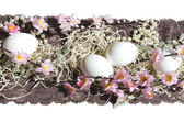 Easter egg cake fabric lace pearl — Stockfoto