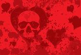 Skull heart — Stock Vector