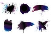 Paintbrush background grunge art paint — Stock Vector