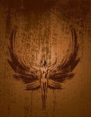 Grunge angel — Stock Vector