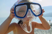 Underwater mask child kid — Stock Photo
