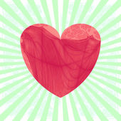 Vintage heart on striped background — 图库照片