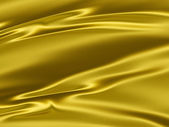 Golden yellow satin 3D texture background — Stock Photo