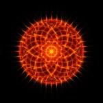 Flame tongues mandala on black background — Stock Photo #41963599