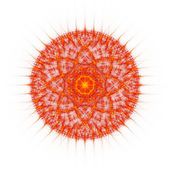 Flame tongues mandala on white background — Stock Photo