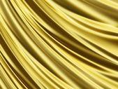 Vikta gyllene mousserande silk 3d-struktur — Stockfoto