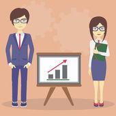 Busines presentation — Stock Vector