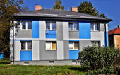 Apartment building - blue — Stock Photo