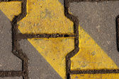 Gray-yellow cobblestone — Stock Photo