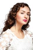 Beauty Portrait. Fashion makeup. Hairstyle. — ストック写真