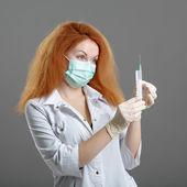 Sağlık ve tıp kavramı - kadın doktor veya hemşire doktor — Stok fotoğraf