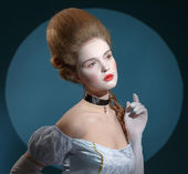 Victotorian lady. Young woman in eighteenth century image — Stock Photo