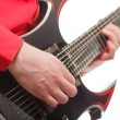 Stock Photo: Rock guitarist plays solo guitar