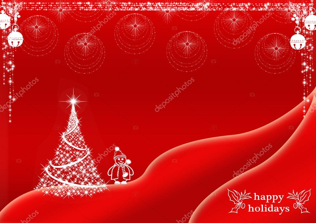 White And Red Christmas Background Red Christmas Background Design With White Christmas Tree And Snowman