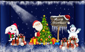 Blue Christmas Background Design - cute — Stock Photo