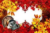 Thanksgiving background frame — Stock Photo