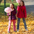Stock Photo: Girl eating sugar candy floss
