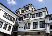 Ethno architecture building by the Ohrid lake — Stok fotoğraf