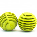 Plastic balls for washing machine, isolated on white — Stock Photo #42636935