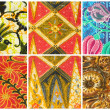 Set of batik sarong pattern background , traditional batik sarong in Asian — Stock Photo #44211981