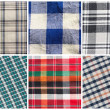 Set of seamless tartan patterns — Stock Photo
