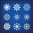 Snowflakes a — Stock Vector