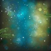 Bokeh grün hintergrund — Stockvektor