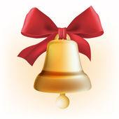 Golden Bell ribbon — Stock Vector