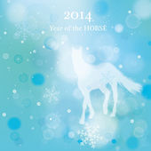 Horse Blue background — Stockvektor