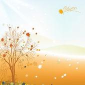árbol de otoño — Vector de stock