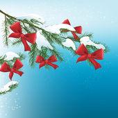 Christmas tree branch — Stock Vector