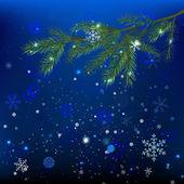 Snow branches — Stock Vector