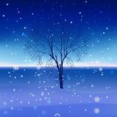 雪景观 — 图库矢量图片