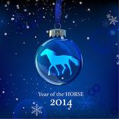 Snowflakes Horse — Stock Vector