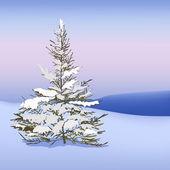 Snow landscape — Stock Vector