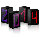 2014 year cube — Stock Vector