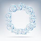 Beautiful bubbles circle of soap — Stock Vector