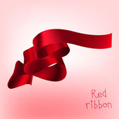 Ribbon banner red a — Stock Vector
