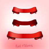 Ribbon banner red b — Stock Vector